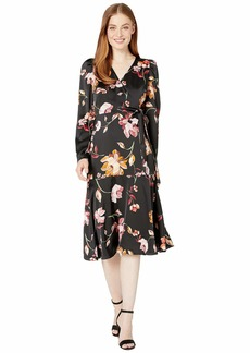 Maggy London Painted Garden Charmeuse Dress