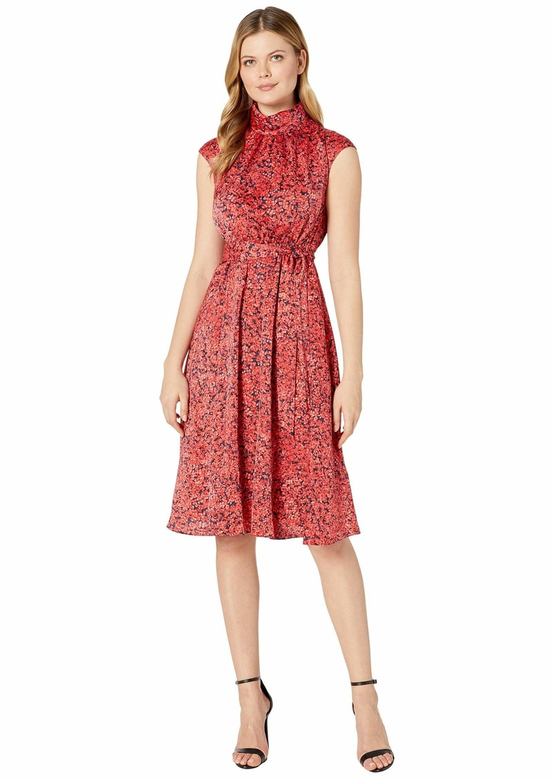 Maggy London Pretty Petal Printed Charmeuse Fit-and-Flare