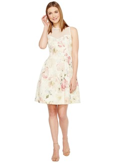 Maggy London Print Broccade Fit & Flare Dress