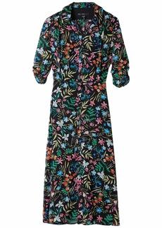 Maggy London Printed Chiffon Midi Shirtdress