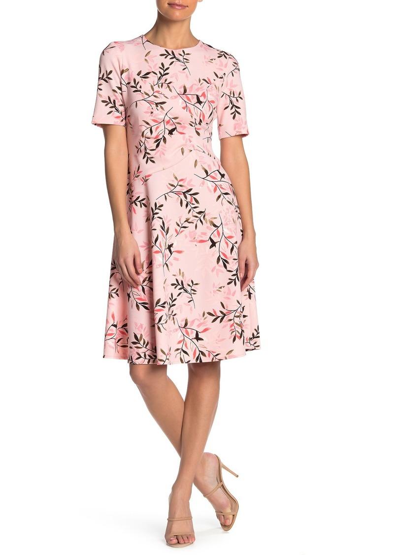 Maggy London Printed Fit & Flare Midi Dress (Petite)