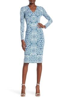 Maggy London Printed Sheath Midi Dress (Regular & Plus Size)