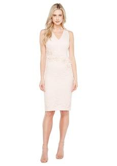 23f18983 Maggy London Rose Garden Lace V-Neck Sheathe Dress