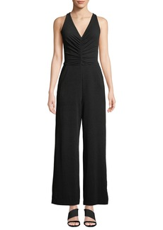 Maggy London Ruched-Bodice Jumpsuit