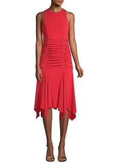 Maggy London Ruched Sleeveless Dress
