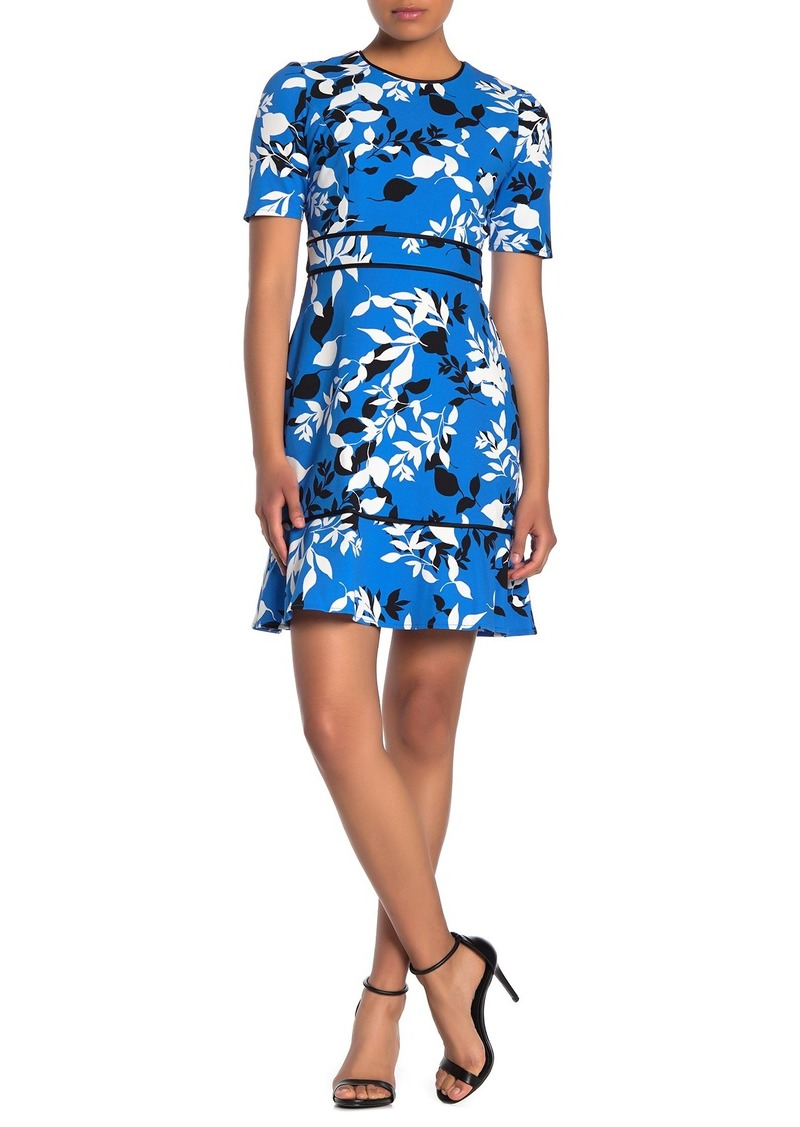 Maggy London Ruffle Hem A-Line Dress (Petite)