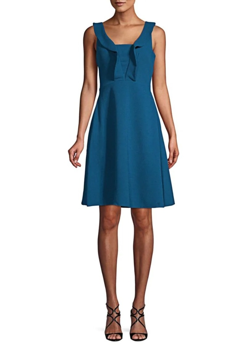Maggy London Ruffle-Trimmed Fit-&-Flare Dress
