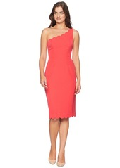 Maggy London Solid Crepe One Shoulder Sheath with Scallop Detail