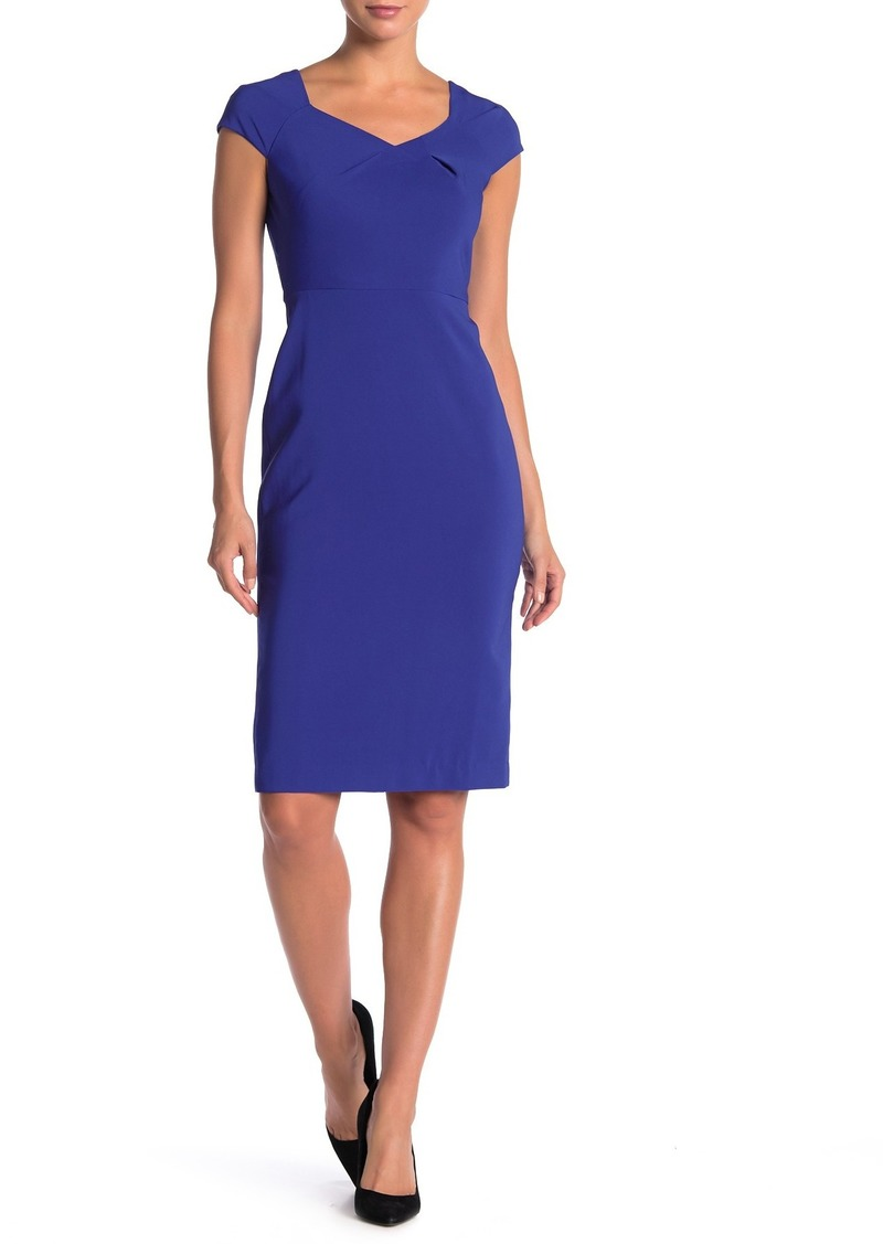 Maggy London Sweetheart Neck Sheath Dress