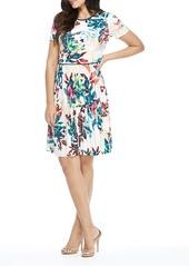 Maggy London Tropical Print Dress (Petite)