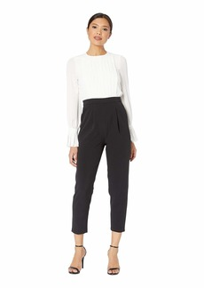 Maggy London Tucked Front Crepe Jumpsuit
