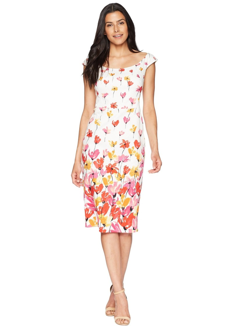 2d2b4784 Maggy London Tulip Border Printed Cotton Sheath Dress