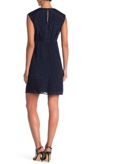 Maggy London V-Neck Waterfall Drape Dress