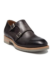 Magnanni Bernina Leather Double Monk Strap Loafer