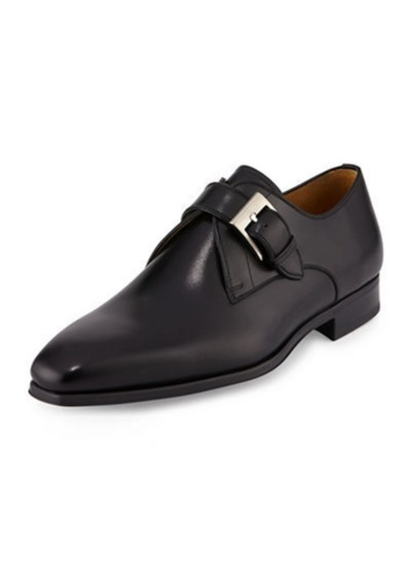 Magnanni Buckle-Strap Leather Loafer