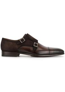 Magnanni double buckle monk shoes