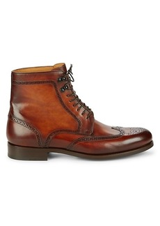 Magnanni Full Brogue Leather Boots