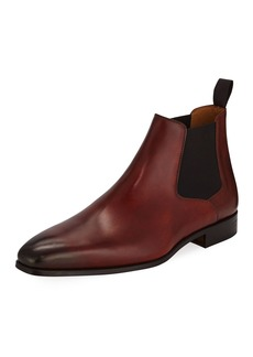 Magnanni Hand Antique Leather Chelsea Boots