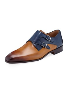 Magnanni Hand-Antiqued Calf Two-Tone Dress Shoes