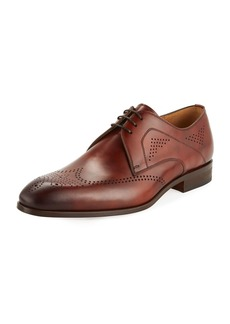 Magnanni Hand-Antiqued Perforated Wing-Tip Oxford
