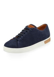 Magnanni Men's Lace-Up Suede Platform Sneakers