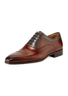 Magnanni Leather Brogue Calf Leather Oxfords