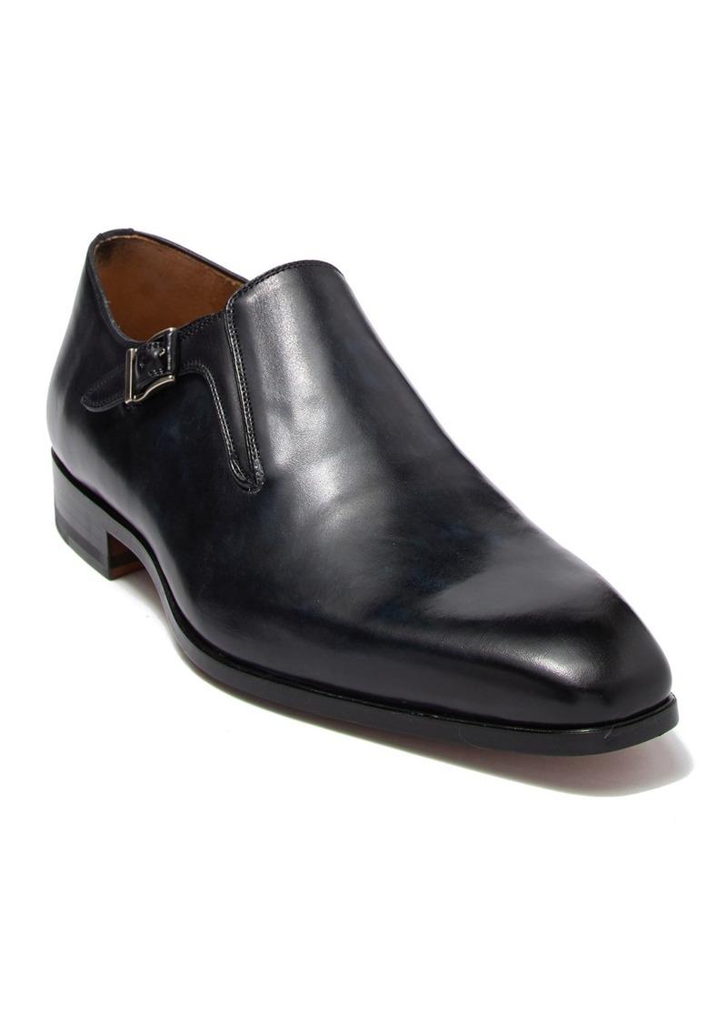 Magnanni Leather Buckle Strap Dress Shoe