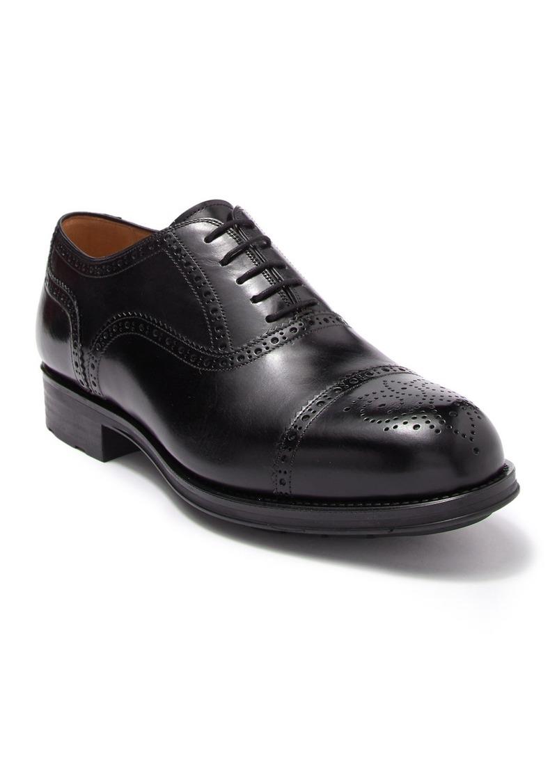 Magnanni Leather Cap Toe Brogue Oxford