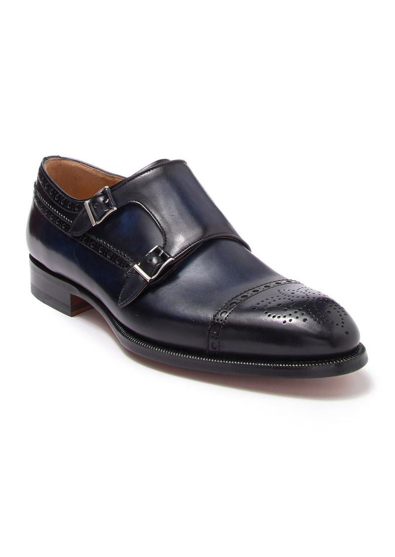 Magnanni Leather Monk Strap Brogue Dress Shoe