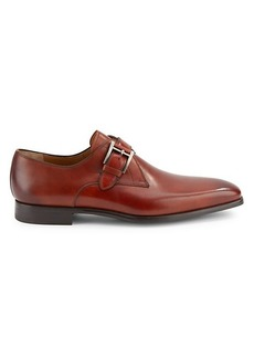 Magnanni Leather Monk-Strap Shoes