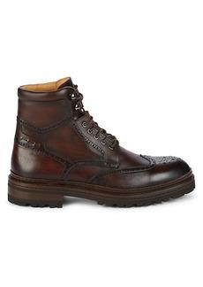 Magnanni Lepanto Leather Wingtip Combat Boots