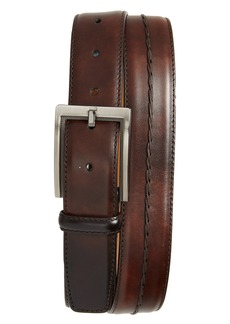 Magnanni Center Stitch Leather Belt