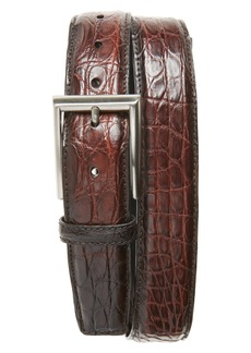 Magnanni Crocodile Leather Belt