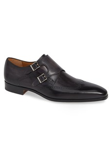 Magnanni Dixon Wingtip Double Strap Monk Shoe (Men)