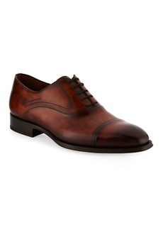 Magnanni for Neiman Marcus Cap-Toe Leather Oxford Shoe
