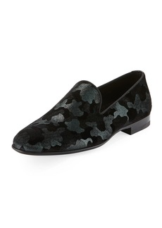 Magnanni Men's Camo Velvet Formal Loafer