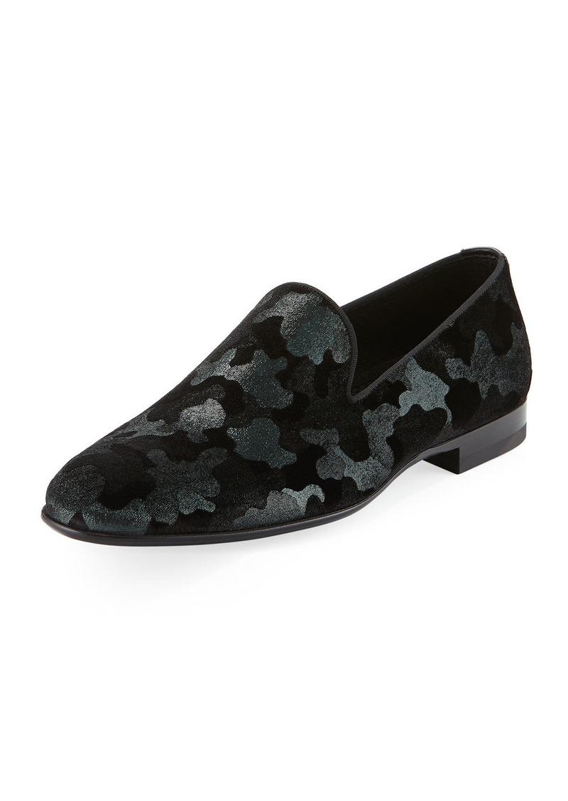 Magnanni Men's Camo Velvet Formal Loafer
