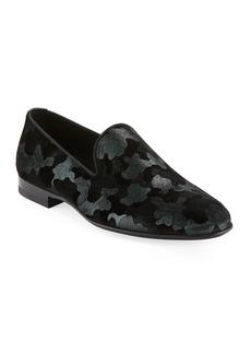 Magnanni for Neiman Marcus Men's Camo Velvet Formal Loafer