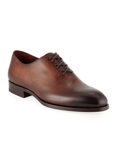 Magnanni for Neiman Marcus Men's Lace-Up One-Piece Leather Dress Shoes