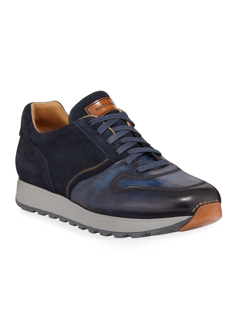 Magnanni for Neiman Marcus Men's Leather & Suede Sneakers