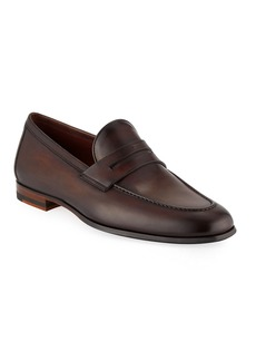 Magnanni for Neiman Marcus Men's Leather Penny Loafers