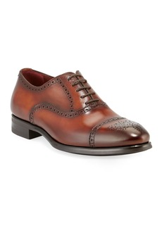 Magnanni for Neiman Marcus Men's Madison Leather Brogue Oxfords