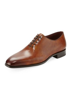 Magnanni Men's One-Piece Leather Lace-Up Dress Shoe
