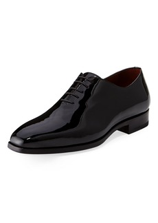 Magnanni Men's One-Piece Patent Leather Oxford Shoe