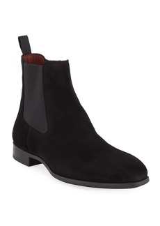 Magnanni for Neiman Marcus Men's Suede Chelsea Boots