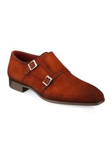 Magnanni for Neiman Marcus Men's Suede Double-Monk Shoe