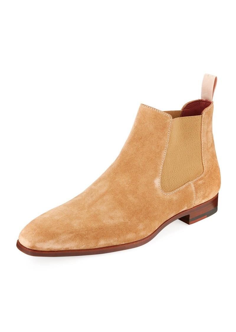 d7a435ae9899 Magnanni Men's Suede Low Gored Chelsea Boots Light Brown | Shoes