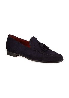 Magnanni for Neiman Marcus Men's Suede Tassel Loafers