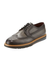 Magnanni Men's Wing-Tip Leather Brogue Sneaker