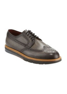 Magnanni for Neiman Marcus Men's Wing-Tip Leather Brogue Sneaker